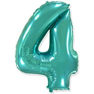 Foil Balloon Number  Turquoise  - 110cm - 4 - Balloons