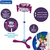 Lexibook Frozen Adjustable stand with 2 microphones, voice effects, light and speaker - Musical Toy