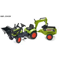 Claas Arion 410 pedal tractor with front and rear bucket and flatbed - Pedal Tractor