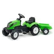 Garden Master tractor with flatbed green