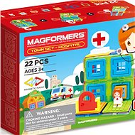 Magformers - Small Town Hospital - Magnetic Building Set