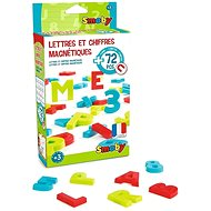 Smoby Magnetic letters and numbers 72pcs - Magnetic Board