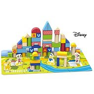 Derrson Disney Wooden Cubes 92 pcs with a Pad in a Bucket Mickey