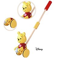 Derrson Disney Wooden Winnie the Pooh on a Rod - Push and Pull Toy