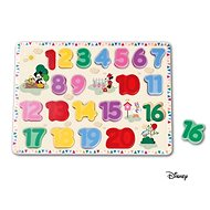 Derrson Disney Large wooden number puzzle by Mickey - Wooden Puzzle
