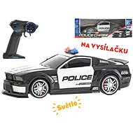 R / C police car 33cm 1:12 on battery with light - Toy Vehicle