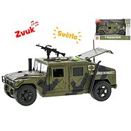 Military car 23cm 1:16, on the flywheel with light and sound - Toy Vehicle