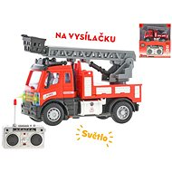 R / C fire truck with ladder 13cm 1:64 with light - RC Remote Control Car