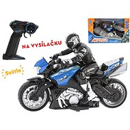 R / C motorcycle with rider 26cm 1:10, for 2.4GHz batteries - Children's electric motorbike