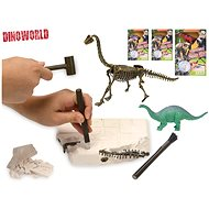 Dinosaur 17cm and fossil in plaster with a chisel, hammer and brush - Creative Toy