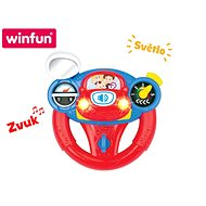 19cm Battery-powered Steering Wheel with Light and Sound - Baby Toy