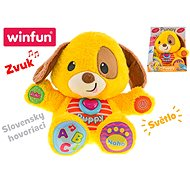 Puppy educational dog 33cm Slovak speaking on batteries with light