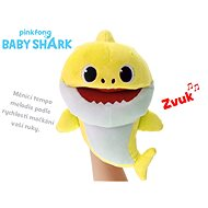Baby Shark plush puppet 23cm yellow for batteries with selectable voice speed 12m + in a bag