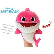 Baby Shark plush puppet 23cm pink for batteries with selectable voice speed 12m + in a bag - Plush Toy