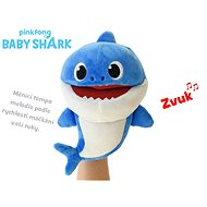 Baby Shark plush puppet 23cm blue for batteries with selectable voice speed 12m + in a bag - Plush Toy