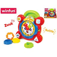 Clock insert 22cm, moving parts on batteries with light and sound - Puzzle