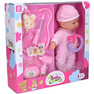 Sick baby, 31 cm, BO, sound effects - Doll