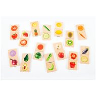 Wooden memory of fruits and vegetables