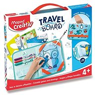Maped Travel Board Set - Erasable Games and Animal Drawings