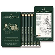 Graphite Pencils Faber-Castell Castell 9000 Art in a Tin Box, set of 12 pcs - Pencil
