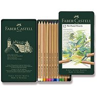 Faber-Castell Pitt Pastell crayons in a tin box, 12 colours - Coloured Pencils