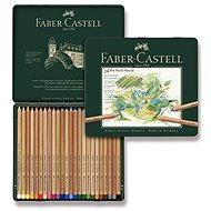 Faber-Castell Pitt Pastell crayons in a tin box, 24 colours - Coloured Pencils