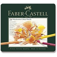 Faber-Castell Polychromos crayons in a tin box, 24 colours - Coloured Pencils