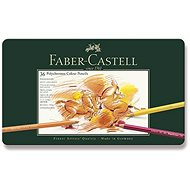 Faber-Castell Polychromos crayons in a tin box, 36 colours - Coloured Pencils