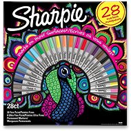 Sharpie Peacock permanent markers, 28 colours - Marker