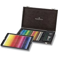 Set of Faber-Castell Polychromos crayons, 48 colours, wooden box with accessories - Coloured Pencils