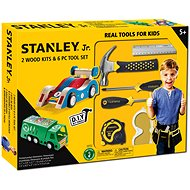 Stanley Jr. U003-K02-T06-SY Set of 2 cars and 5 tools. - Children's Tools