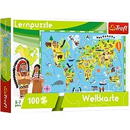 Educational Puzzle - Map of Word - german version - Board Game
