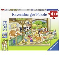 Ravensburger 091959 Day on the farm 2x24 pieces - Puzzle