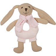 Canpol babies Bunny with pink rattle - Plush Toy