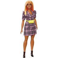 Barbie Model - Check Dress with a Yellow Kidney Design - Dolls