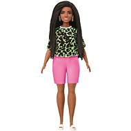 Barbie Model - T-shirt with neon leopard pattern in pink shorts - Dolls