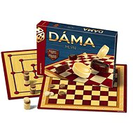 Checkers + Mill Wooden Stones Board Game - Board Game