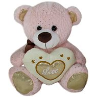 Teddy Bear Heart Pink - 23 cm - Teddy Bear