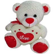 Teddy Bear Heart White - 23 cm - Teddy Bear