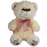 Bear with ribbon Beige - 40 cm - Teddy Bear