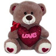 Teddy bear with heart Love - 30 cm Brown - Teddy Bear