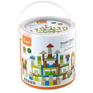 Wooden Kit of 80 Cubes - Wooden Building Kit