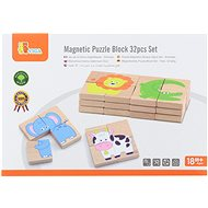 Wooden Magnetic Puzzle - Animals - Wooden Toy
