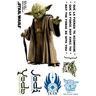ABYstyle - Star Wars - Self-adhesive wall decoration - scale 1: 1 - YODA - (size: 66 x 42 cm) - Children's bedroom decoration
