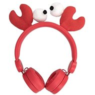 Wired Headphones Forever AMH-100 Craby 3.5mm Mini Jack with Magnetic Elements Red - Headphones