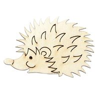 Optys Wooden Cutout Hedgehog, Small, 6.3 X 4cm - Wooden Cutouts