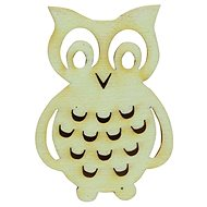 Optys Wooden Owl, 4.5x6cm - Wooden Cutouts