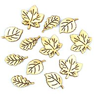 Optys Wooden Cutout Leaves, 14 - 25mm, Mix 12 pcs - Wooden Cutouts