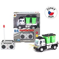 Garbage truck with containers, remote controlled, 13 x 6 x 8.5 cm