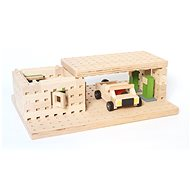 Wooden kit Buko - Petrol with a toy car of 99 parts